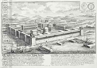 Palace of Diocletian 245-313 Split Yugoslavia by (after) Fischer von Erlach, Johann Bernhard - Reproduction Oil Painting