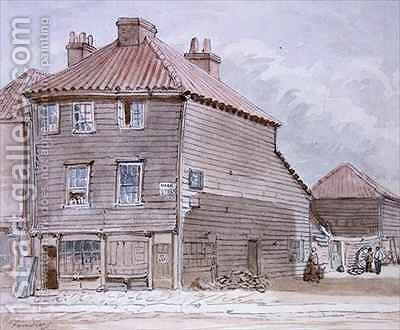View of an Old House in High street Lambeth by J. Findley - Reproduction Oil Painting