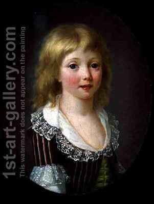 A Little Boy of the Comminges Family by (attr. to) Filleul, Anne Rosalie (nee Bouquet) - Reproduction Oil Painting