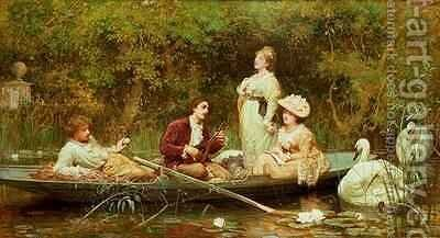 Fair quiet and sweet rest by Sir Samuel Luke Fildes - Reproduction Oil Painting