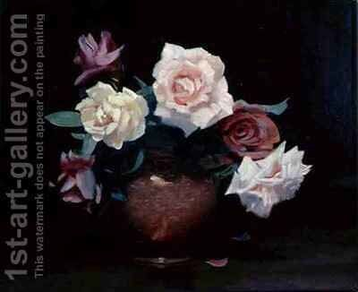 Wiltshire Roses by Denis Quinton Fildes - Reproduction Oil Painting