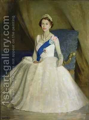 Her Majesty Queen Elizabeth II by Denis Quinton Fildes - Reproduction Oil Painting