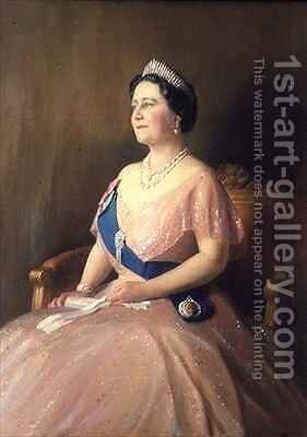 HM Queen Elizabeth the Queen Mother by Denis Quinton Fildes - Reproduction Oil Painting