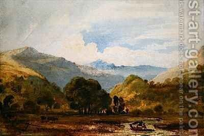 St Johns Vale by Anthony Vandyke Copley Fielding - Reproduction Oil Painting
