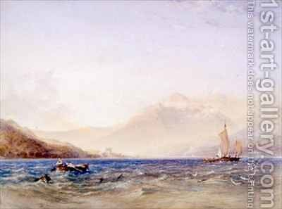 The Head of Loch Fyne with Dindarra Castle by Anthony Vandyke Copley Fielding - Reproduction Oil Painting