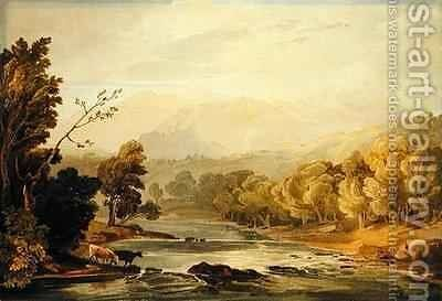 A View on the Brathay near Ambleside by Anthony Vandyke Copley Fielding - Reproduction Oil Painting
