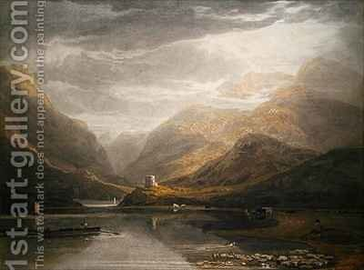 Dolbadern Castle by Anthony Vandyke Copley Fielding - Reproduction Oil Painting
