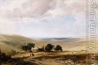 The South Downs by Anthony Vandyke Copley Fielding - Reproduction Oil Painting