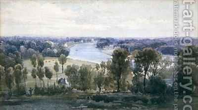 Richmond Hill by Anthony Vandyke Copley Fielding - Reproduction Oil Painting