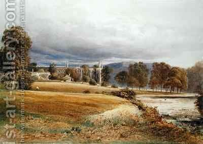 Bolton Abbey from the River Wharfe South View by Anthony Vandyke Copley Fielding - Reproduction Oil Painting