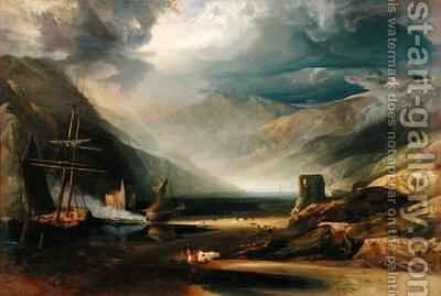 A Storm Passing Off on the Coast of Merionethshire by Anthony Vandyke Copley Fielding - Reproduction Oil Painting