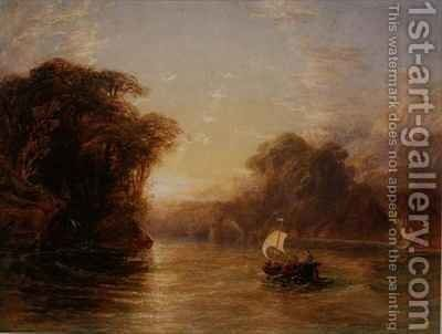 Ubaldo and Carlo in the Enchanted Boat by Anthony Vandyke Copley Fielding - Reproduction Oil Painting