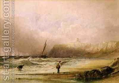 A Breezy Day at Scarborough by Anthony Vandyke Copley Fielding - Reproduction Oil Painting