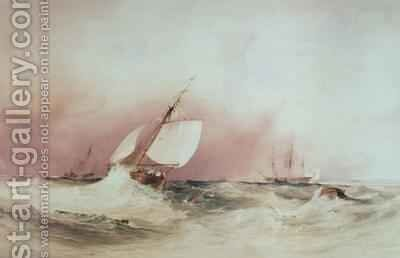 Seascape off the South Coast by Anthony Vandyke Copley Fielding - Reproduction Oil Painting