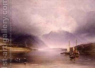 Loch Etive Argyllshire by (after) Fielding, A.V. Copley - Reproduction Oil Painting