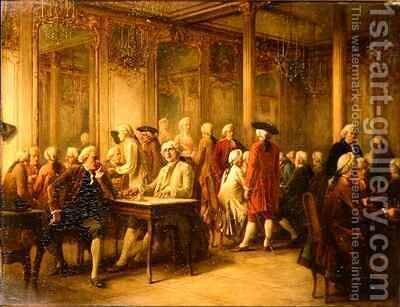 The Gentlemens Club by Benjamin Eugene Fichel - Reproduction Oil Painting