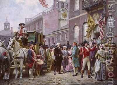Washingtons Inauguration at Independence Hall by Jean-Leon Gerome Ferris - Reproduction Oil Painting