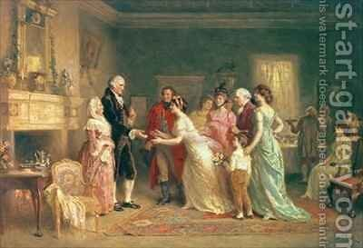 Washingtons Birthday by Jean-Leon Gerome Ferris - Reproduction Oil Painting