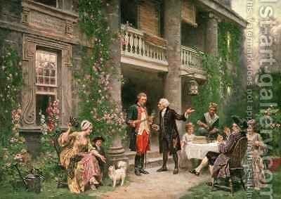 George Washington at Bartrams Garden by Jean-Leon Gerome Ferris - Reproduction Oil Painting