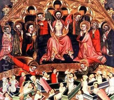 The Last Judgement from The Altarpiece at the old church of Sant Salvador dAlbatarrec at Lleida by Jaime Ferrer II - Reproduction Oil Painting