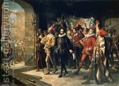 Antonio Perez 1540-1611 Released from Prison by the Rebels in 1591 by Augustus or Augusto Ferran - Reproduction Oil Painting