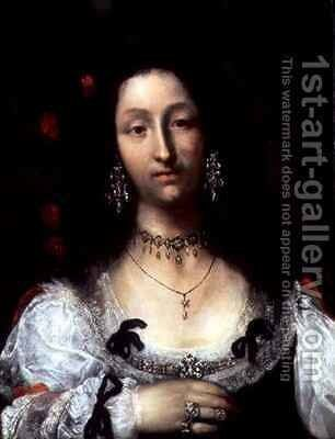 Portrait of a Lady by Girolamo Ferrabosco or Forabosco - Reproduction Oil Painting