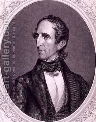 John Tyler from The History of the United States by (after) Fenderich, Charles - Reproduction Oil Painting