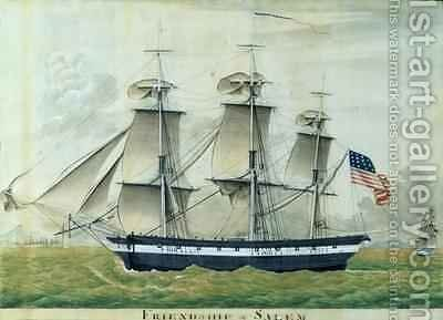 USS Friendship of Salem by (attr. to) Fedi, Giuseppe - Reproduction Oil Painting