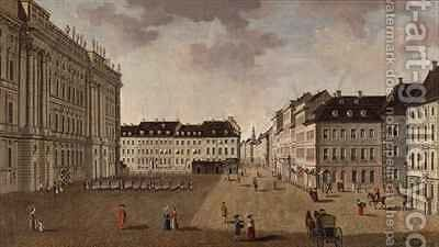 Berlin City Palace by Carl Traugott Fechhelm - Reproduction Oil Painting