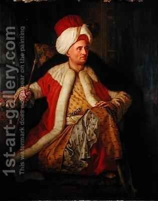 Charles Gravier 1717-87 Comte de Vergennes in Oriental Costume by Antoine de Favray - Reproduction Oil Painting