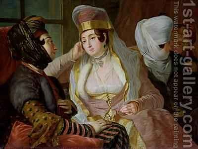 Maltese Women by Antoine de Favray - Reproduction Oil Painting