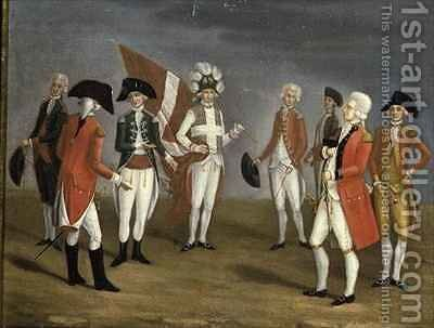 High Ranking Military Officers of Malta by Antoine de Favray - Reproduction Oil Painting