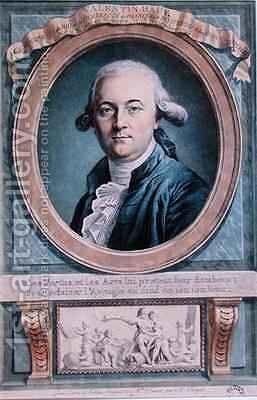 Portrait of Valentin Hauy 1745-1822 by (after) Favart, Genevieve - Reproduction Oil Painting