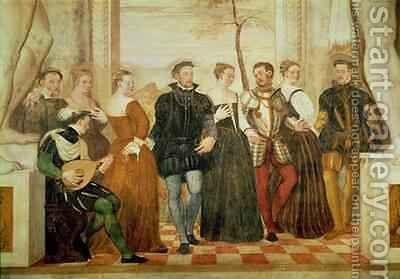 Invitation to the Dance 2 by Giovanni Antonio Fasolo - Reproduction Oil Painting