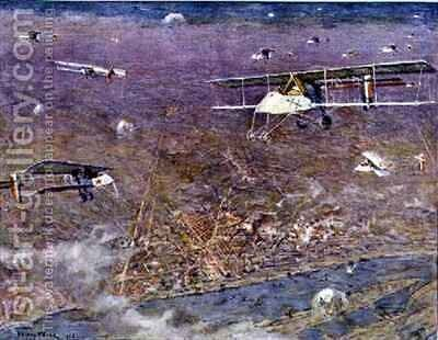The Bombardment of Ludwigshafen by the French  26 May by Henry Farre - Reproduction Oil Painting
