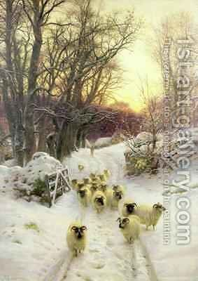 The Sun Had Closed the Winters Day by Joseph Farquharson - Reproduction Oil Painting