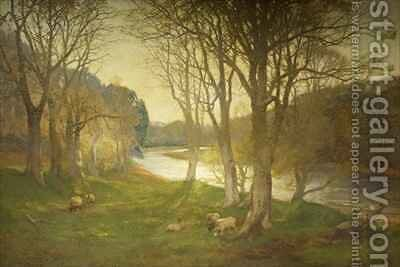 A Misty Morn on the Dee by David Farquharson - Reproduction Oil Painting