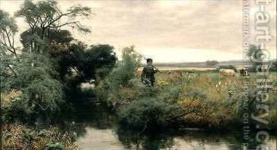 Off Fishing by David Farquharson - Reproduction Oil Painting