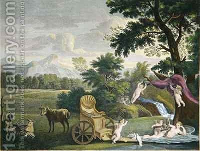 Venus Bathing and Cupids by (after) Farington, Joseph - Reproduction Oil Painting