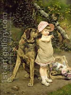 Dogs Company by Edgard Farasyn - Reproduction Oil Painting