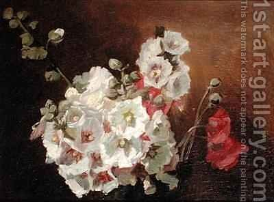 Flower Study by Ignace Henri Jean Fantin-Latour - Reproduction Oil Painting