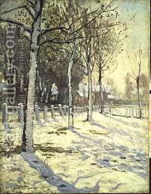 Poplars in the Snow by Alice Taite Fanner - Reproduction Oil Painting