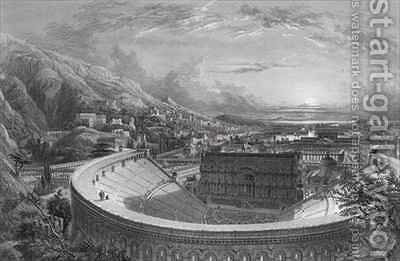 Ancient Ephesus from above the Theatre by (after) Falkener, Edward - Reproduction Oil Painting
