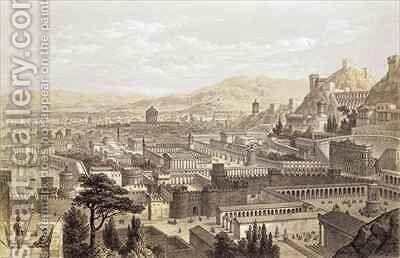 The City of Ephesus from Mount Coressus by (after) Falkener, Edward - Reproduction Oil Painting
