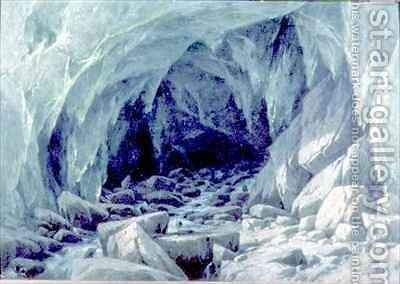 The Ice Cave of the Brenva by Giuseppe Falchetti - Reproduction Oil Painting