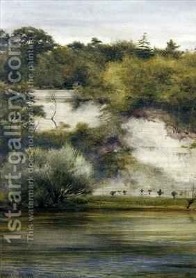 By the Riverside by Edward Henry Fahey - Reproduction Oil Painting