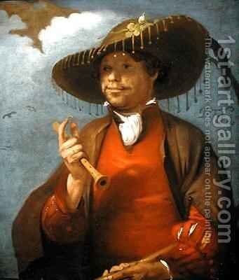 Portrait of a Shepherd with a Flute and a Ring by Barent Fabritius - Reproduction Oil Painting