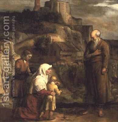Elijah and the Widow of Zarephath by Barent Fabritius - Reproduction Oil Painting