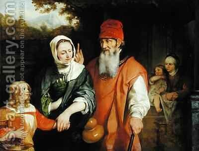 The Dismissal of Hagar by Barent Fabritius - Reproduction Oil Painting