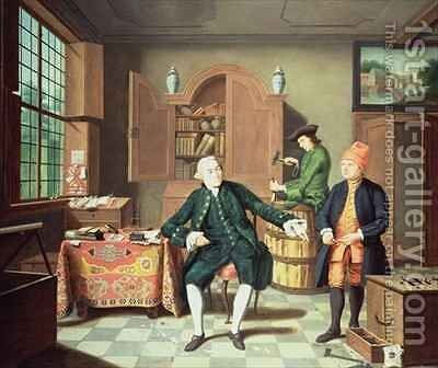 The Tobacco Merchant of Gehr by Johann Faber - Reproduction Oil Painting